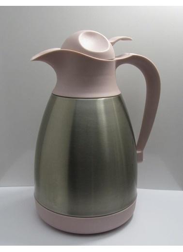 Cooker Çelik Çay Termosu - Çelik Su Termosu Renkli 1,2 Lt. Pudra
